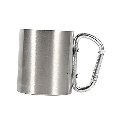 220 ml de acero inoxidable tazas de camping de metal que ...