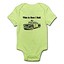CafePress - How I Roll (Police Car) - Cute Infant Bodysuit Baby Romper