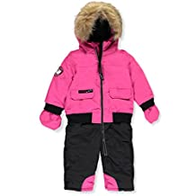 "Canada Weather Gear Baby Girls' ""Reflective Zipper"" 1-Piece Snowsuit"