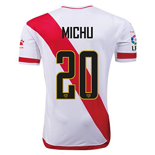 fan products of Rayo Vallecano #20 Michu 2015/16 Home Soccer Adult Football Jersey