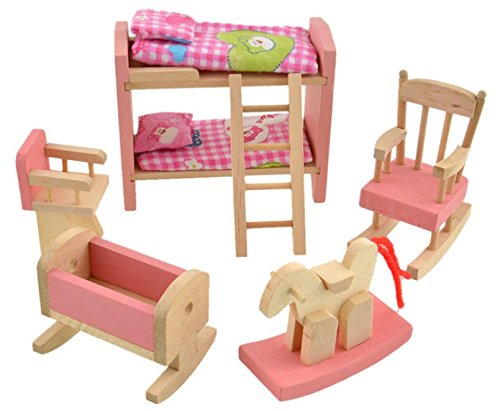 Glamorway glamorway baby kids play pretend toy design Wooden baby doll furniture