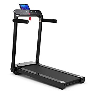 Well-Being-Matters 41L-DpemLgL._SS300_ GYMAX Folding Treadmill, Free Installation Smart Digital Running/Walking Machine with LED Touch Display for Home…