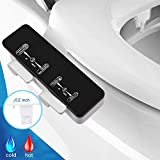 Greatic Bidet Attachments, EB8200 Ultra Slim Self Cleaning Nozzle Hot&Cold Fresh Water Non-Electric Mechanical Bidet Toilet Attachment with Adjustable Water Pressure&Temperature