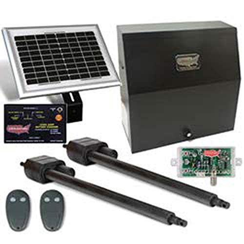 USAutomatic Patriot II Solar Charged Dual Swing Gate Opener Kit 020075-UL Includes Receiver and Two Remotes & Includes A Free Heavy Duty FAS Tape Measure (Part# FAS-TMPROMO18)