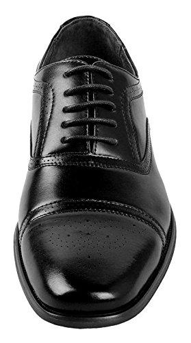 Delli Aldo Mens Wing Tip Dress Shoes   Comfortable Dress Shoes I Formal   Lace-Up   Classic Design   Black 10.5 by Delli Aldo (Image #3)