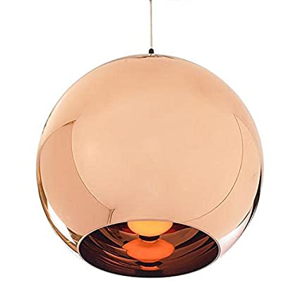 SmileyEU 20 cm Retro Cobre Pulido Efecto lámpara Globo estilo Dome ...