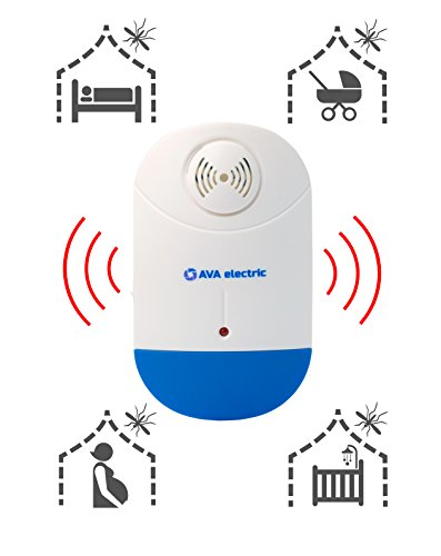 CLASSIC DESIGN] Ultrasonic Pest Control Repeller [NEW TECHNOLOGY] by AVA Electric Plug-in and Night Light for Indoor - Indoor Pest Control Device Cockroaches, Roaches, Mice (Pack of 1)