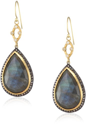 "Sara Weinstock ""Chandelier"" Labradorite Pear Shape Drop Earrings"
