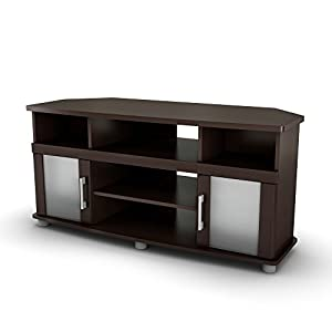City Life Corner TV Stand - Fits TVs Up to 50'' Wide - Chocolate - by South Shore