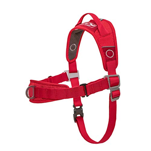 Kurgo Dog Harness | No Pull Training Pet Walking Harness | Harnesses for Dogs Or Pets | Adjustable | Reflective | Easy Control | Front D-Ring Clip | Walk About Training Harness |X-Large, Chili Red