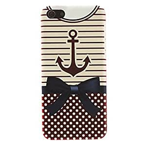 Anchor and Bowknot Pattern Smooth Hard Case for iPhone 5C