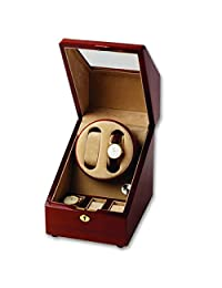 Sturdy Wooden Quad Watch Winder and 6 Watch Box Display Case for Serious Timepiece Collectors