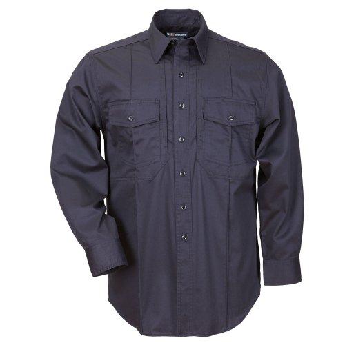 5.11 Camisa de estación de manga larga Tactical para hombre, clase B, azul marino fuego, grande