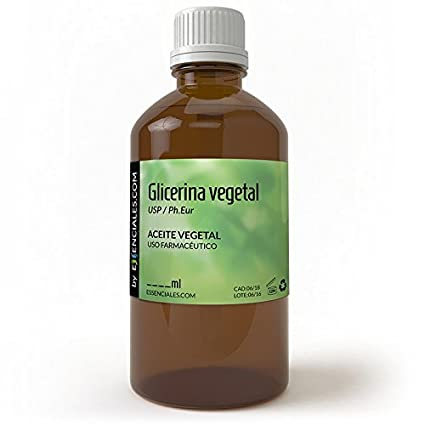 Glicerina vegetal USP / Ph.Eur - Pureza Certificada - 30 ml - VG Base: Amazon.es: Belleza