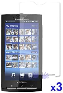 Quaroth - 3 Screen Protectors FOR SONY ERICSSON XPERIA X10 include Microfiber cleaning cloth