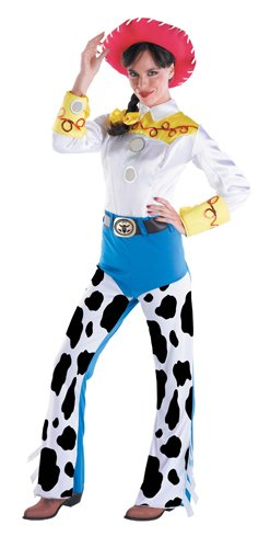 Disguise Women's Jessie Deluxe Adult,Multi,L (12-14) (Jessie Costume For Adults)