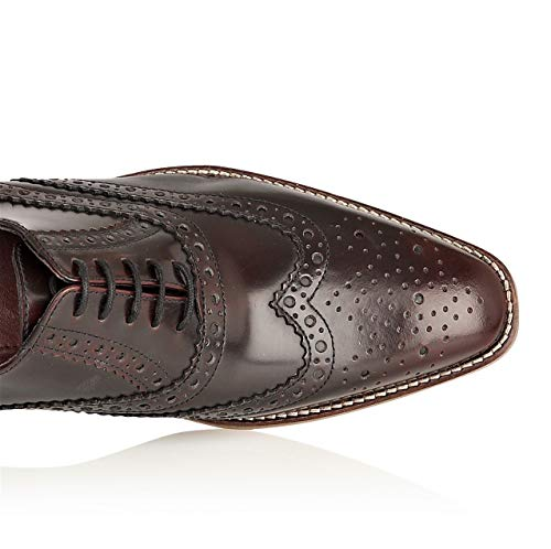 Chad Uomo Stringate bordo Scarpe Brogues London qn7zPw1HzI