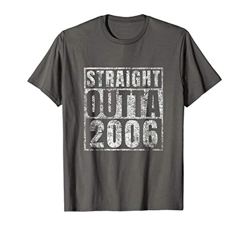 Straight Outta 2006 13th Birthday Gift 13 Year Old T-Shirt (Party Ideas For 13 Yr Old Girl)