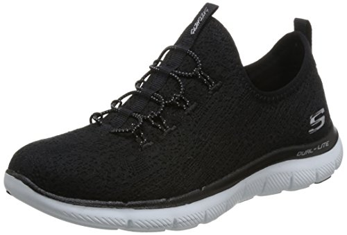 Flex Skechers On Black Slip Women's clear Sport Cut white Appeal 5rH0PTr