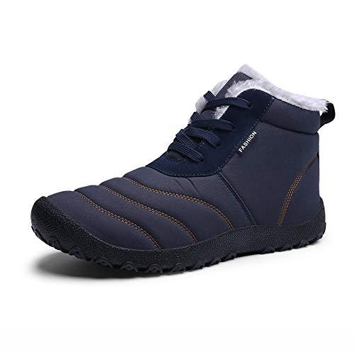 FHCGMX Größe 39-48 Männer Stiefel Winterschuhe Männer Wasserdichte Leinwand Denim Stiefel Warme Winter Atmungsaktive Leinwand Arbeitsstiefel