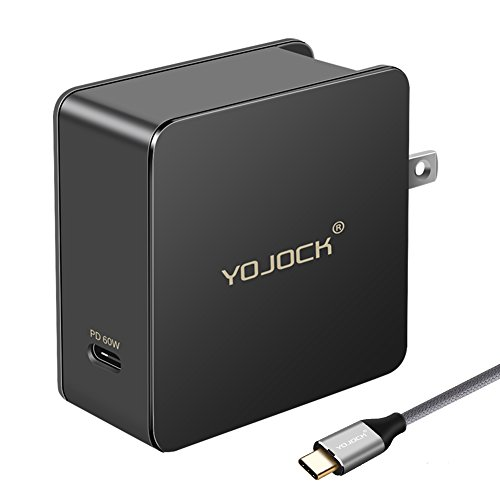 USB C Power Delivery Charger 60W 45W 36W 29W Type C PD Fast Charge for Nintendo Switch, Macbook Pro 13, XPS 13, Chromebook, Samsung Note8, GPD Pocket, Razer Laptop and more by YOJOCK YKJ