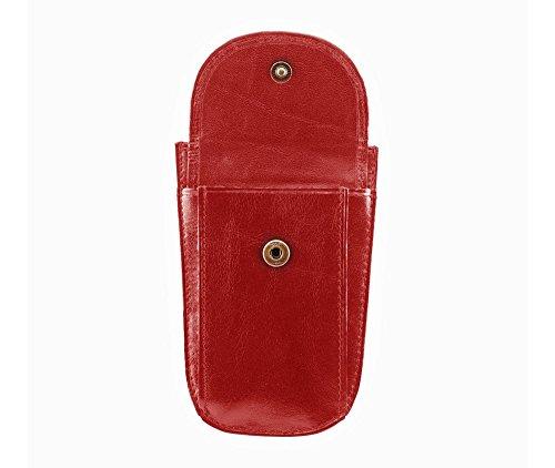 WITTCHEN caso, Rosso, Dimensione: 11.5x7.5 cm - Materiale: Pelle di grano - 21-2-014-3