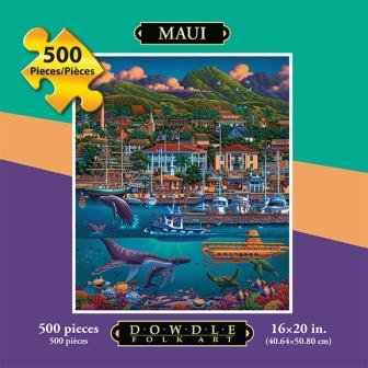 Dowdle Jigsaw Puzzle of Hawaii 500 Piece - A Must Have Dowdle Folk Art Puzzle Maui (Item ID: - City Capital Maui