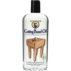 Howard Products BBB012 Cutting Board Oil, Clear,2-Pack