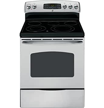 """GE JB655STSS 30"""" Stainless Steel Electric Smoothtop Range"""