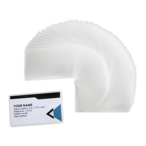 "Laminating Pouches, Thermal Laminator Pouch, Clear - 2.25"" x 3.75"" Business Card Size - 5 mil Thickness - Moisture Resistant - 200-Pack"
