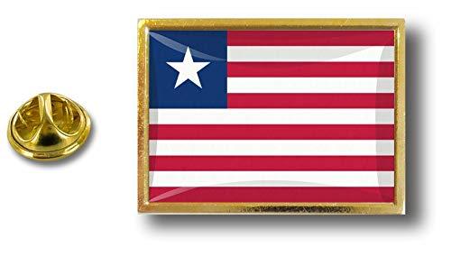 de mariposa Clip con Liberia de Pin Badge Bandera Liberia metal Pins Pin Akacha B0qPOO