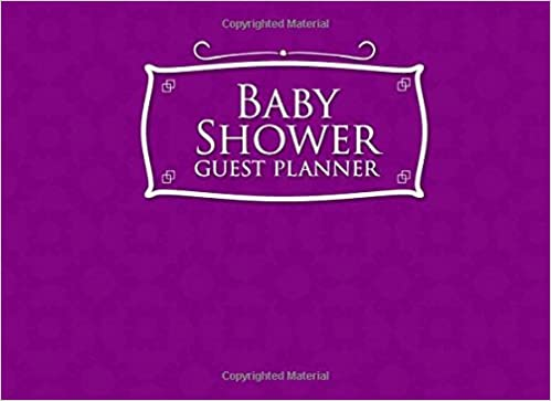 Baby Shower Guest Planner Blank List Organizer Notebook Names And Addresses Of People To Invite Send Invitations Log
