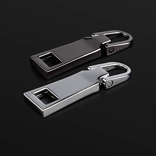 WXJ13 12 Pieces Zipper Head Luggage Accessories Leather Special Zipper Pull Card Detachable Pull Tab,2 Sizes 2 Colors