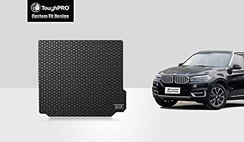 - ToughPRO Cargo/Trunk Mat Compatible with BMW X3 - All Weather - Heavy Duty - (Made in USA) - Black Rubber - 2018, 2019, 2020