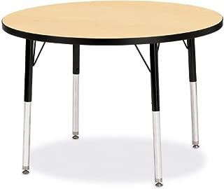 product image for Jonti-Craft Kydz Activity Table Oak Top/Black Edge/36 Diameter/Toddler Height