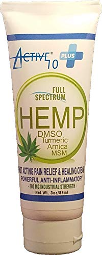 - Hemp Extract Pain Relief Cream - Lotion Balm Salve Relieves: Inflammation, Muscle, Joint, Back, Knee, Nerves & Arthritis Pain - Contains Natural Organic Ingredients - 100% Guarantee - Active 10 Plus