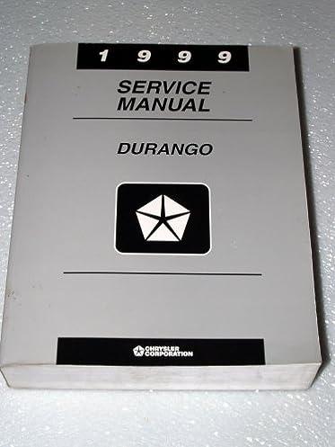 1999 dodge durango service manual complete volume chrysler rh amazon com 2002 Dodge Durango 1999 dodge durango factory service manual