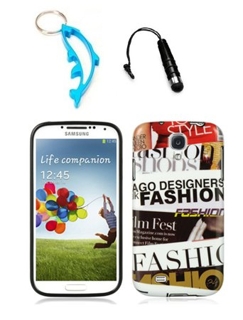 3-Items-Combo-For-Samsung-Galaxy-S4-i9500-Fashion-Design-TPU-IMD-Hard-Case-Snap-On-Protector-Cover-Free-Mini-Stylus-Pen-Free-Alloy-Beer-Bottle-Opener-Dolphin-Keychain
