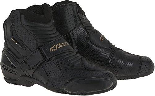 (Alpinestars SMX-1R Vented Women's Street Motorcycle Boots - Black/Gold / 41)