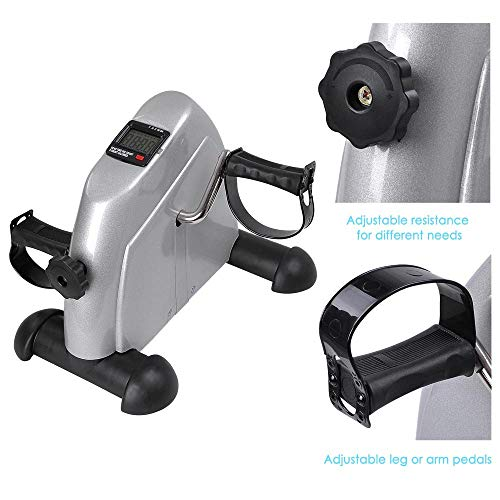 AW LCD Display Pedal Exerciser Mini Cycle Fitness Exercise Bike Indoor Stationary Exercise Cycling by AW (Image #4)