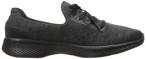 Mujer Walk Go Negro d a para c 4 Skechers Gris Zapatillas HRwq8xH