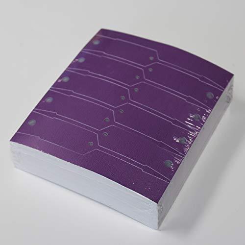 Purple Self-Locking Arrow Key Tags (1,000 per Pack) Size 4 1/2 X 3/4