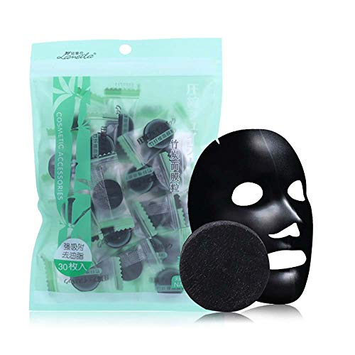 Birdfly 30pcs Compressed Facial Face Mask Women Bamboo Charcoal DIY Disposable Mask