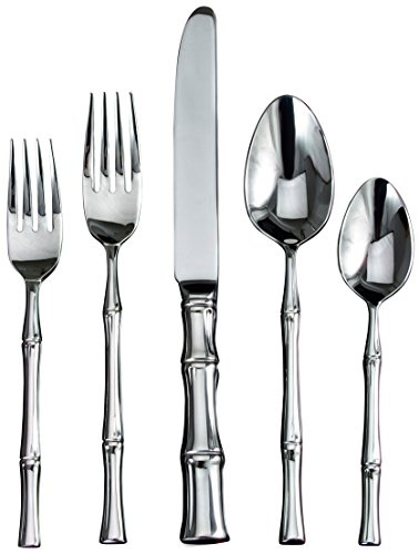 Ricci Bamboo 5-Piece Stainless-Steel Flatware Place Setting, Service for 1 (Ricci Bamboo)