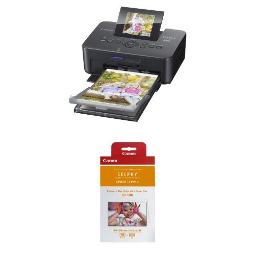 Amazoncom Canon Selphy Cp910 Black Portable Wireless Photo Printer