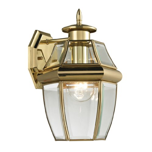 Cornerstone Lighting 8601EW/85 Ashford 1 Light Exterior Coach Lantern, Antique Brass