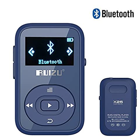 DeeFec Portable Clip Sport Bluetooth MP3 Player 8GB Lossless Sound Music Player with FM Radio Voice Recorder Supports Micro SD Card up to 64GB + Free Sport Armband (Dark (Armband Music Player)