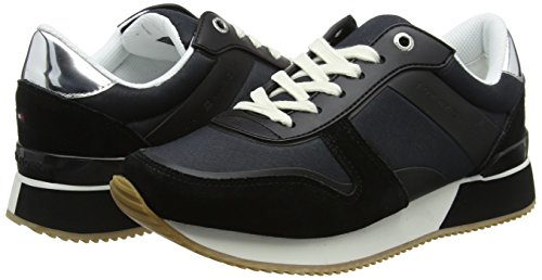 Basses black Noir 990 Sneaker Femme Material Sneakers Hilfiger Mixed Tommy Lifestyle zqY68U