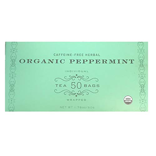 (Harney & Sons Organic Peppermint Tea 1.76oz/50g (50 Tea Bags))
