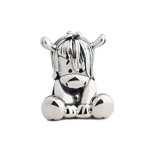 NEW Horse Pony Donkey Sterling Silver Aurora Charm Bead S925, Cute Horse Pony Donkey Silver Charm Bead Pendant, Silver Animal Necklace Charm Jewelry, Pandora compatible